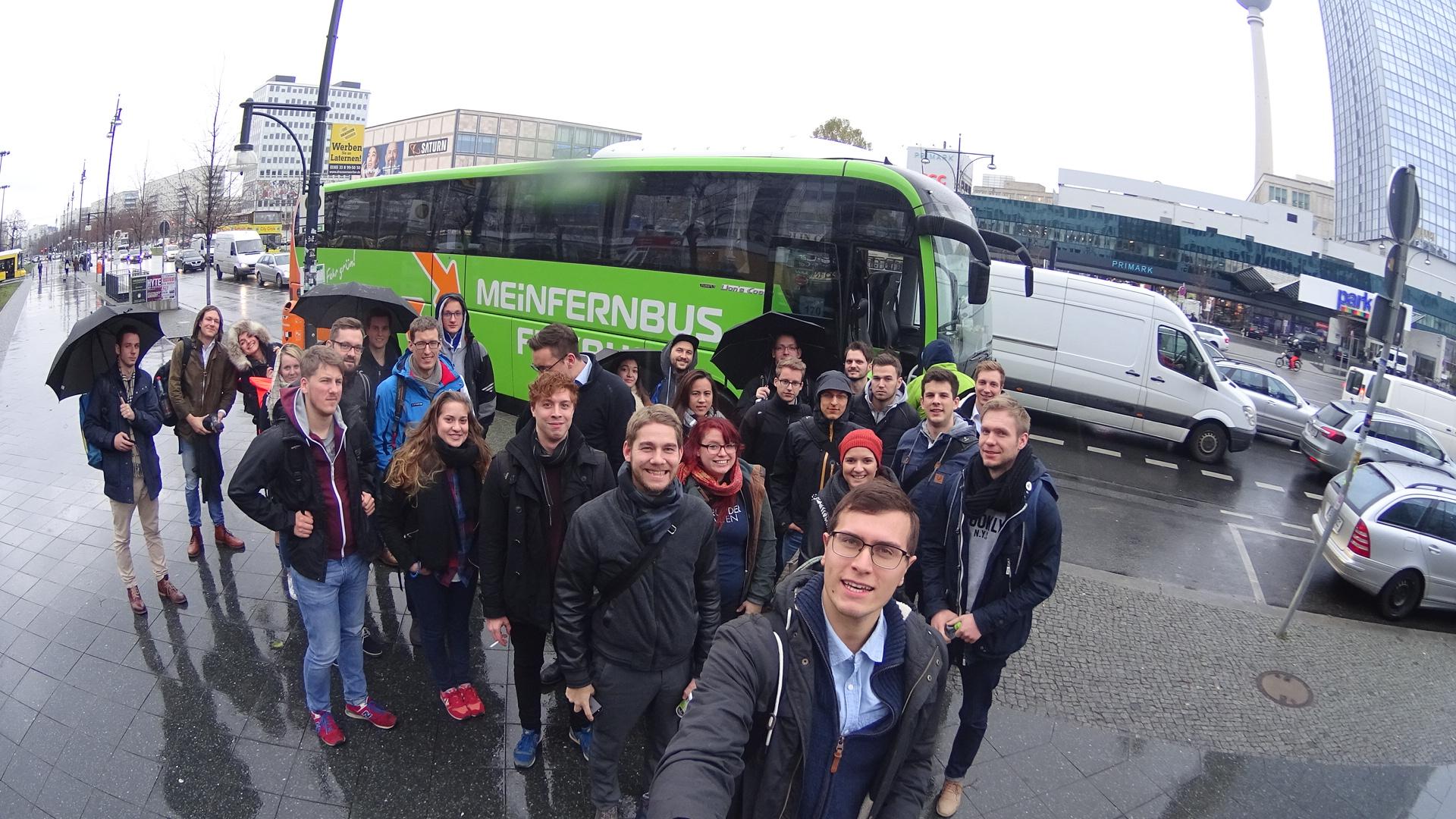Die Teilnehmer der GründerTour #5 des GründerGarten Dresden